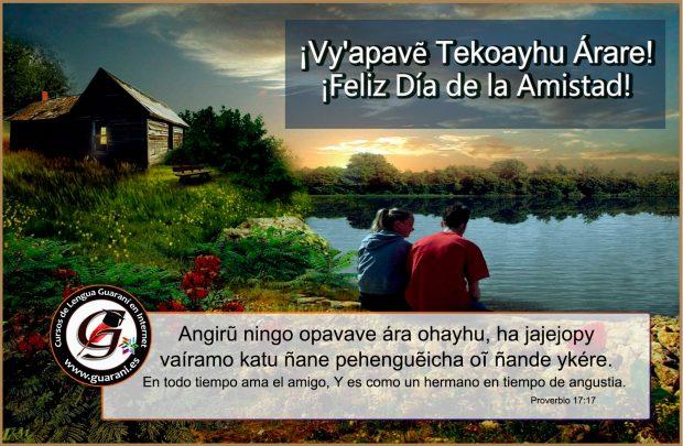 Un amigo es como un hermano – Frase bíblica en Guaraní.