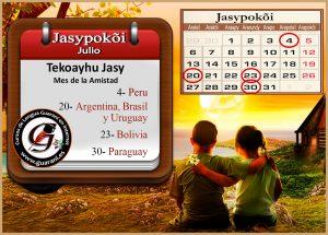 Julio. mes de la amistad en la zona guaraní.