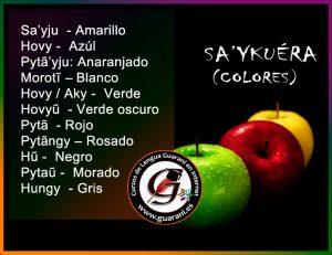 Los colores en guaraní – Sa'ykuéra - Curso de Guaraní