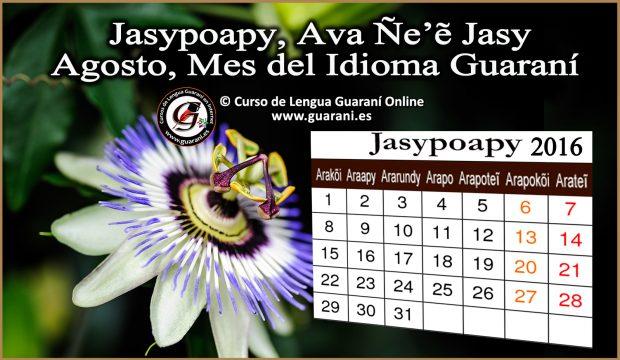 Jasypoapy, Ava Ñe'ê Jasy Agosto, Mes del Idioma Guaraní