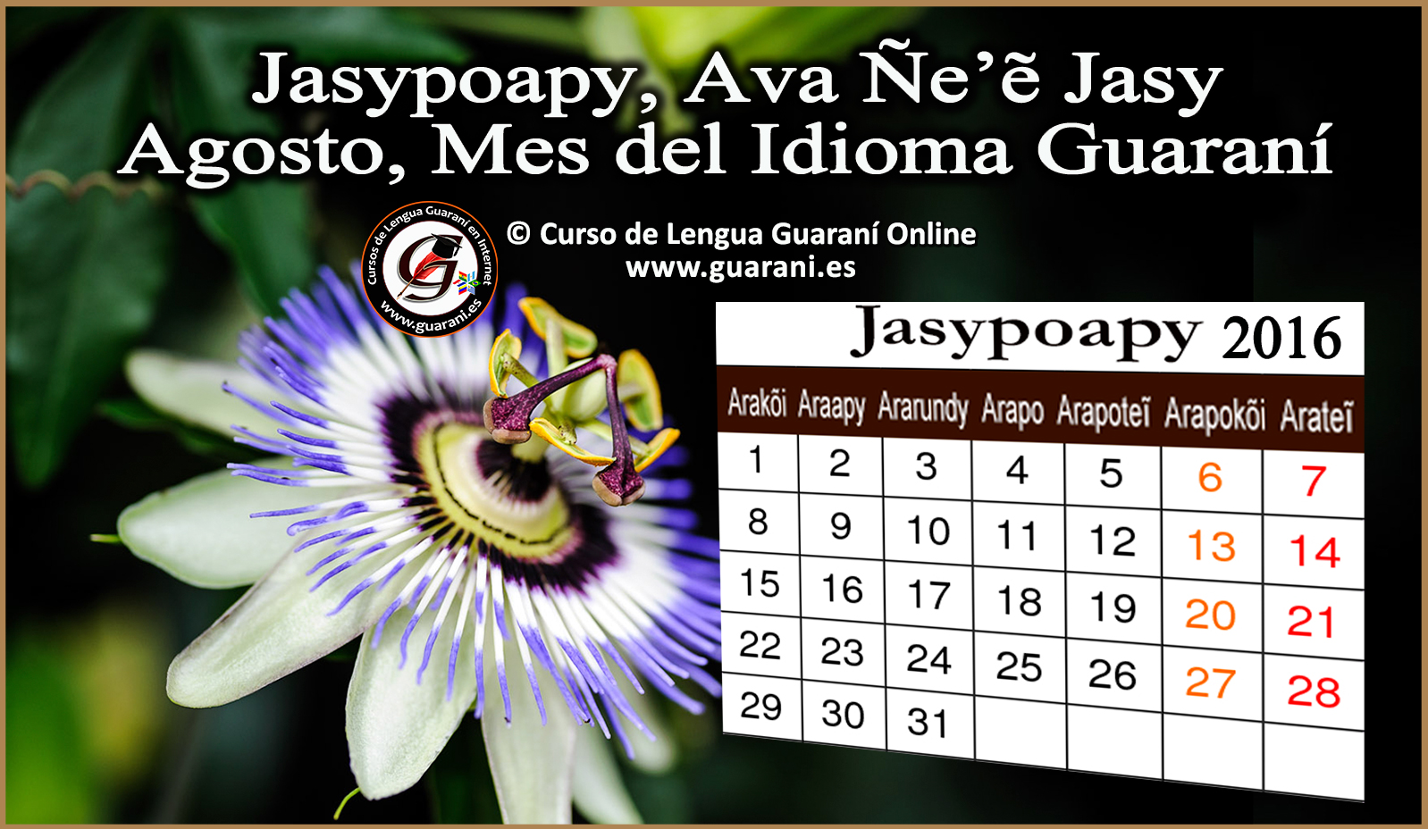 Agosto-mes-calendario-guarani-2016