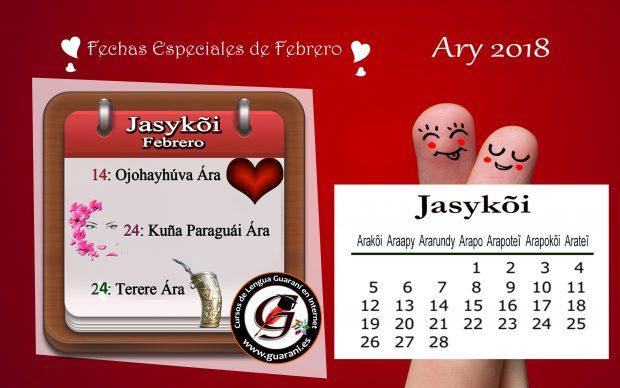 Febrero -Fechas del calendario guaraní