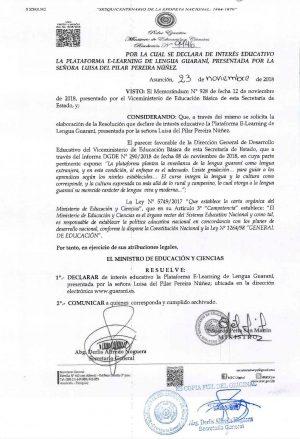 Declaración de Interés público